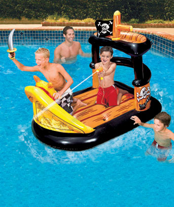Pirate Ship Float with Water Blaster