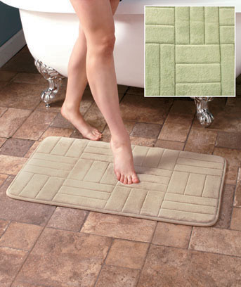 "34"" Carved Memory Foam Bath Rugs"