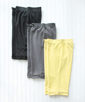 Plus-Size Set of 3 Button Tab Bermudas