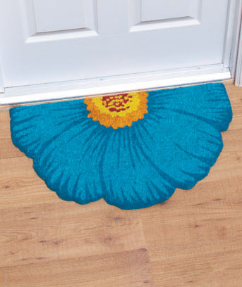 "18"" x 30"" Floral Shaped Coir Doormats"