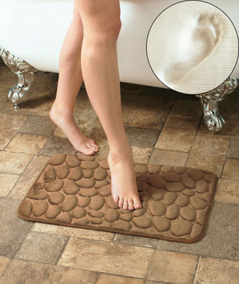 Memory Foam Pebbles Bath Mats