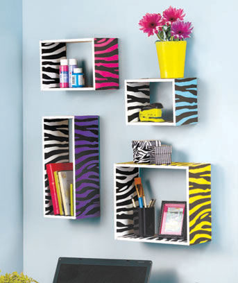 Sets of 4 Printed Storage Shelves
