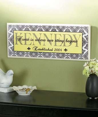 Personalized Sentiment Wall Plaques