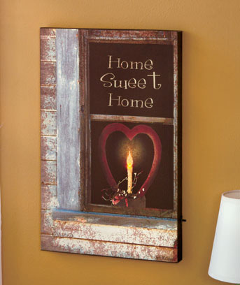 Lighted Home Sweet Home Canvas Print