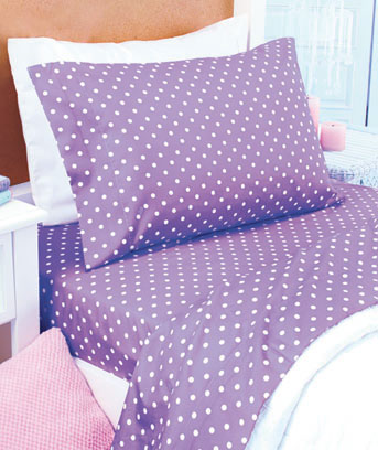 Polka Dot Microfiber Sheet Sets