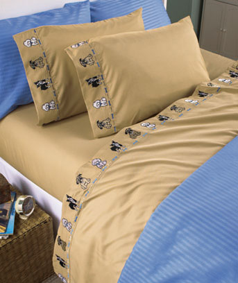 Cats or Dogs Embroidered Sheet Sets