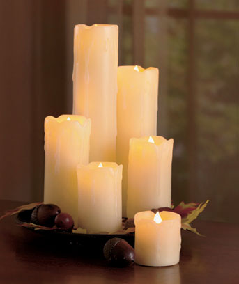 Set of 6 LED Candles