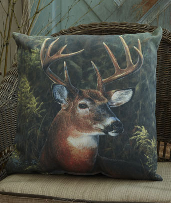 "Deer 16"" IndoorOutdoor Themed Pillow"