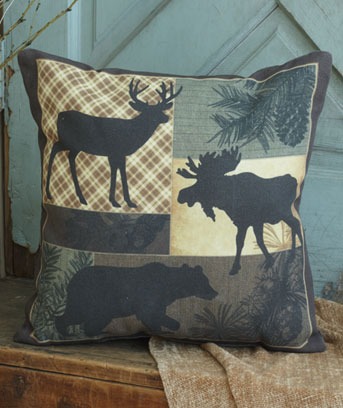 "Lodge 16"" IndoorOutdoor Themed Pillow"