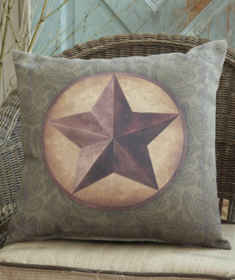 "Western Star 16"" IndoorOutdoor Themed Pillow"