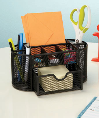 Mesh Office Supply Organizers