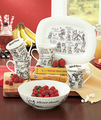 Disney Sketchbook Serveware