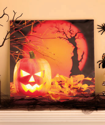 Lighted Halloween Canvas Art