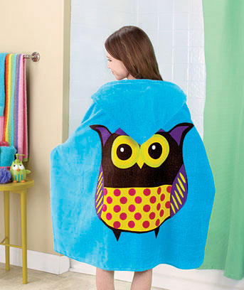 Kids' Hooded Bath Towels