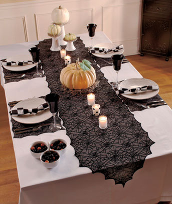 5-Pc. Spiderweb Lace Table Set