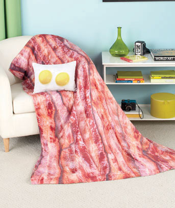 Bacon & Eggs Novelty Throw or Pillow