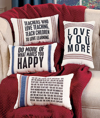 Vintage Sentiment Pillows