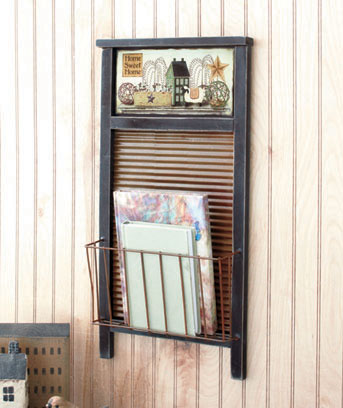 Washboard Basket Rack