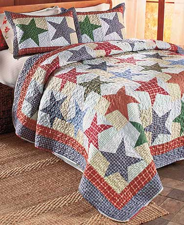 Nicholas Star Plaid Quilt or Sham