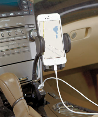 PhoneGPS Holder with 2 USB Ports
