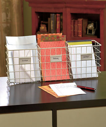 File Baskets with Tabs