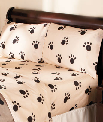 Paw Print Bedding Ensembles