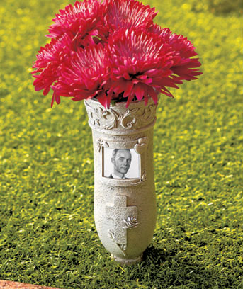 Memorial Vase Stake with Frame