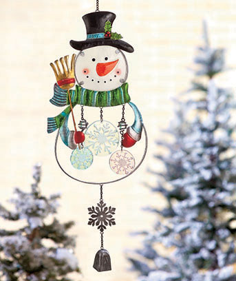 Holiday Glass Wind Chimes