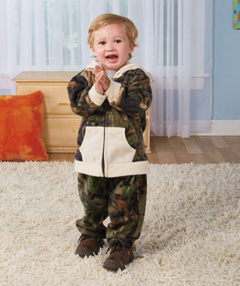 Toddlers' Camouflage Fleece Sets