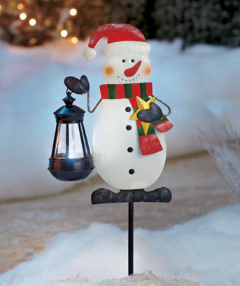 Holiday Stake with Solar Lantern
