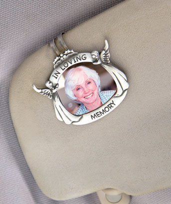 Memorial Key Chain or Visor Clip