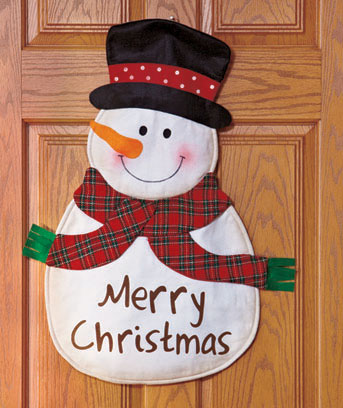 Snowman Festive Holiday Door Greeter