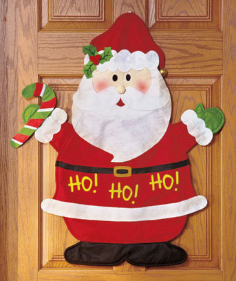 Santa Festive Holiday Door Greeter