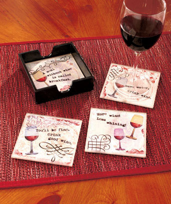 5-Pc. Glass Coaster Sets