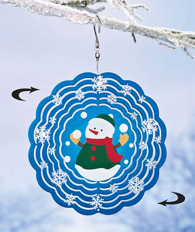 Snowman Holiday Windspinner