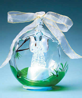 Angel Lighted Glass Keepsake Ornament