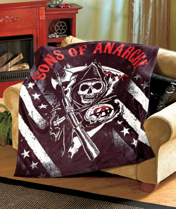 SOA Reaper Flag Fleece Throw