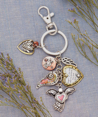 Angel Multi-Charm Inspirational Key Chain