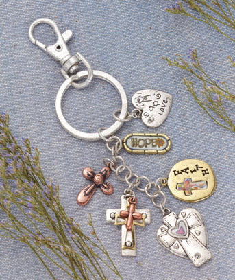 Hope Multi-Charm Inspirational Key Chain