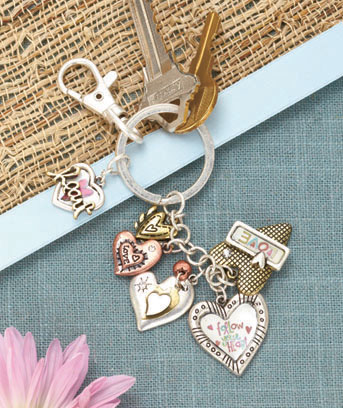 Love Multi-Charm Inspirational Key Chain