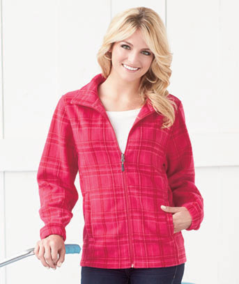 Women's Plaid Fleece Jackets
