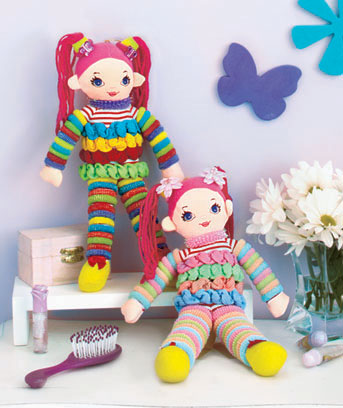 Set of 2 Hair Scunchy Dolls