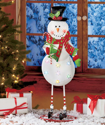 Snowman Lighted Holiday Standing Figure