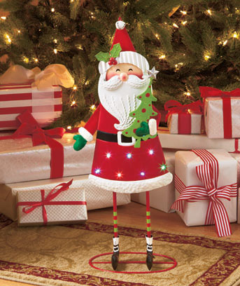 Santa Lighted Holiday Standing Figure