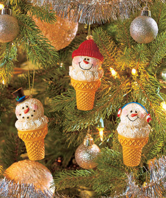 Set of 3 Snow Cone Ornaments