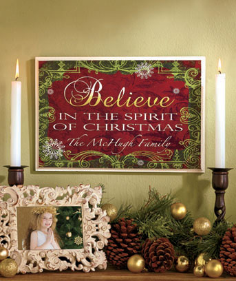 Personalized Holiday Wall Decor