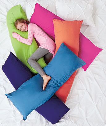 "53"" Bright Body Pillows"