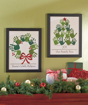 Holiday Handprint Wall Art