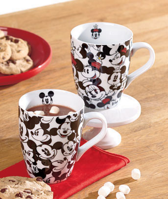 Mickey & Minnie Set of 2 Disney All-Over Mugs