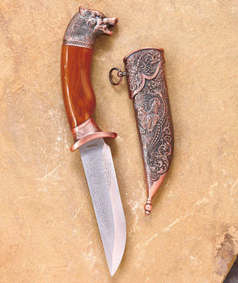 Wolf Collectible Wildlife Dagger